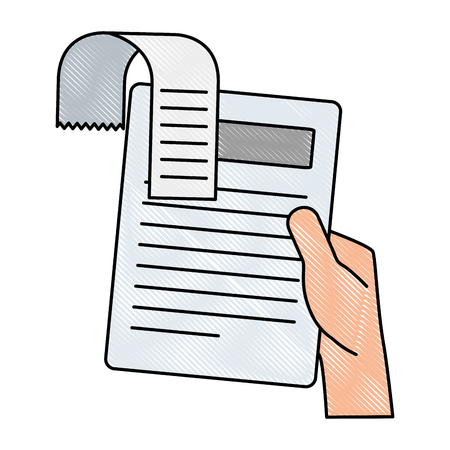 A hand holding finance document