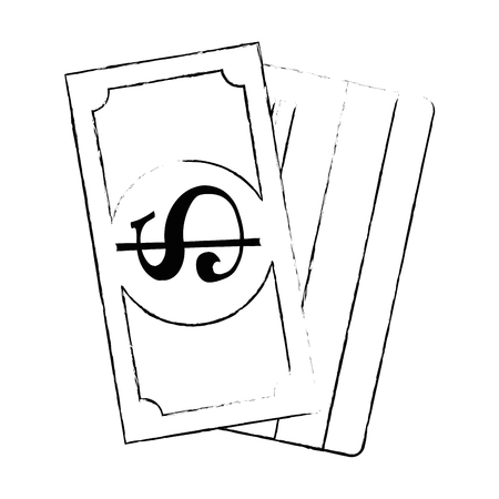 Bill dollar with credit card vector illustration design. Illustration