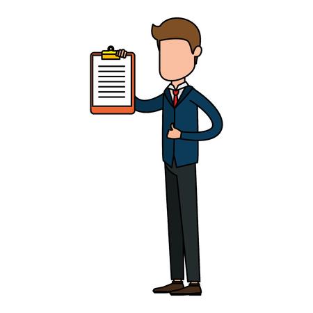 Businessman avatar character vector illustration design