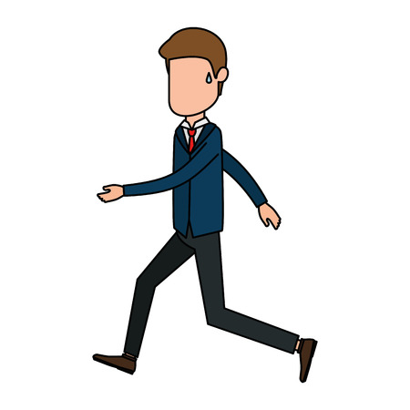 Businessman avatar character vector illustration design