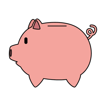 Piggy savings economy icon vector illustration design