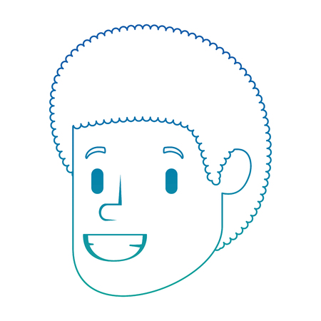 Head avatar character vector illustration design.