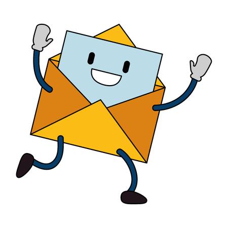 Envelope mail character vector illustration design.