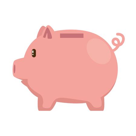 Piggy économies économie icône vector illustration design Vecteurs