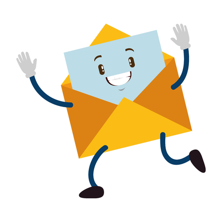 Envelope mail cite character vector illustration design.