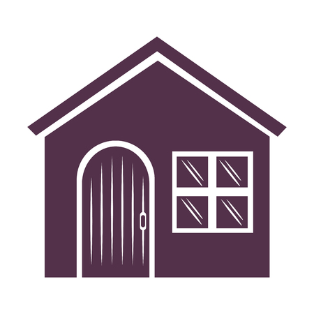 House facade front icon vector illustration design.
