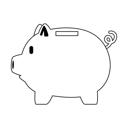 piggy savings economy icon vector illustration design Standard-Bild - 101077722