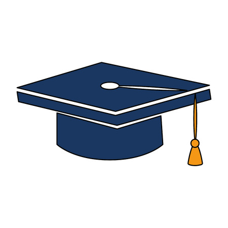 Graduation hat isolated icon vector illustration design.