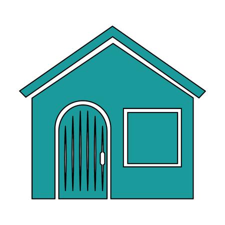 House facade front icon vector illustration design.
