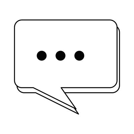 Speech bubble message icon vector illustration design.
