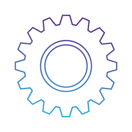 gears machinery isolated icon vector illustration design Stock Illustratie