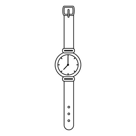 male wristwatch accessory icon vector illustration design Illusztráció