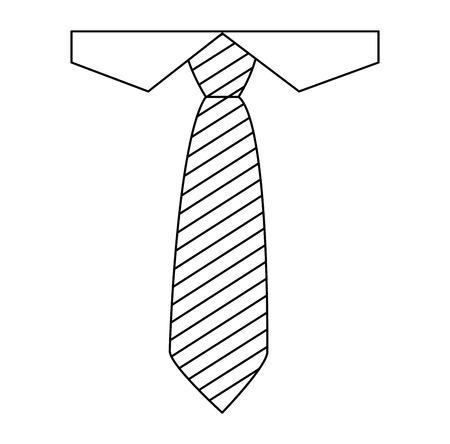 shirt and necktie elegant fathers day icon vector illustration design  イラスト・ベクター素材