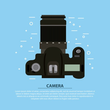 Camera photographic lens flash optical vector illustration  イラスト・ベクター素材