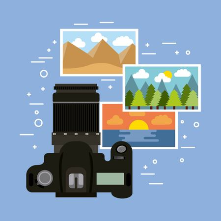 Photographic camera professional gallery image vector illustration Archivio Fotografico - 101111311
