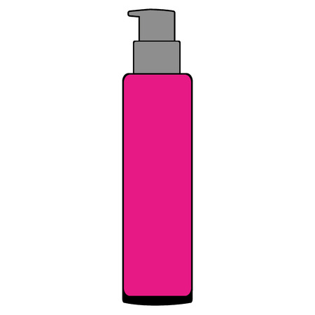 Bottle plastic of beautiful product vector illustration design