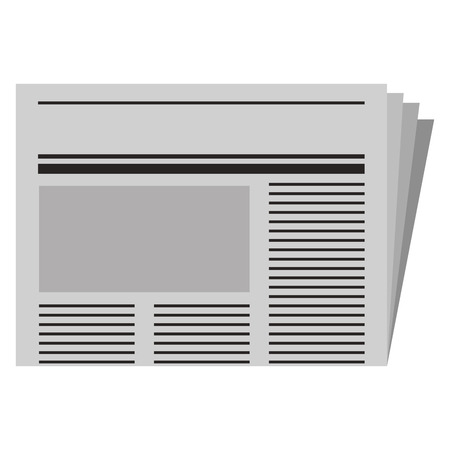 Newspaper daily isolated icon vector illustration design Stock Illustratie