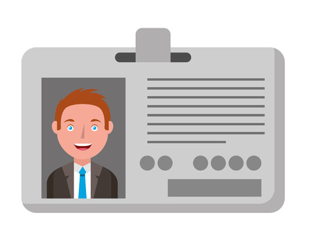 journalist id card with man picture vector illustration design 写真素材 - 101168381