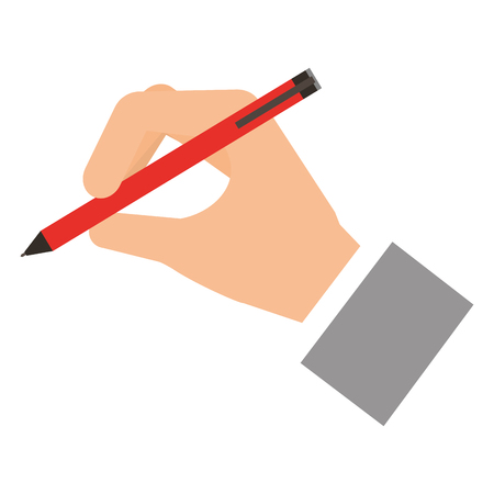 hand writing with pen vector illustration design Illustration