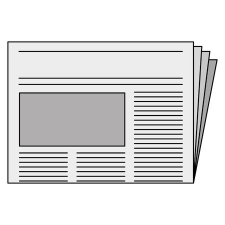 Newspaper daily isolated icon vector illustration design Çizim