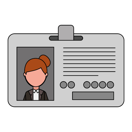 Journalist id card with woman picture vector illustration design Stock Illustratie