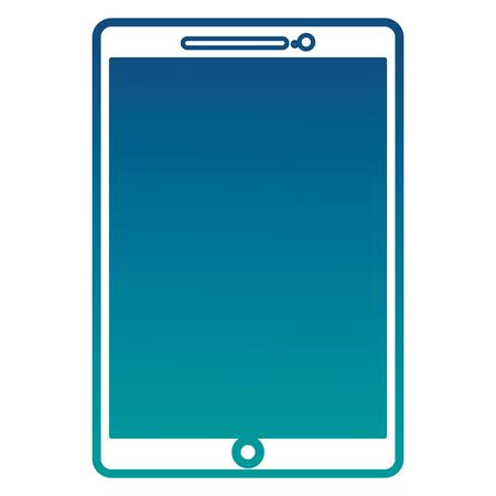 Tablet computer wireless digital image vector illustration neon color Фото со стока - 101115067