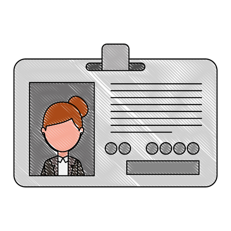 corporate id card employee photo vector illustration drawing