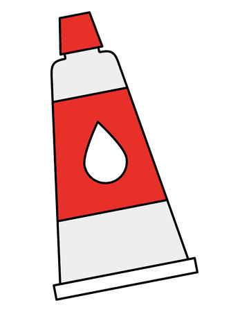 bottle glue isolated icon vector illustration design Illustration