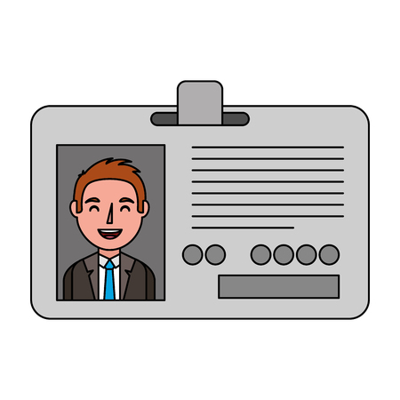 journalist id card with man picture vector illustration design