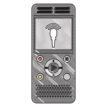 music player mp3 with microphone vector illustration design