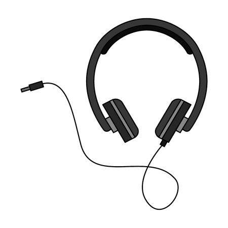 headphone device isolated icon vector illustration design
