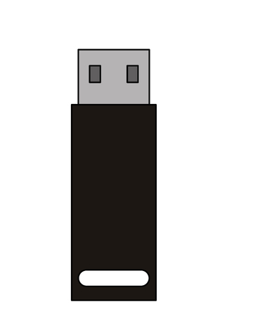 usb memory flash icon vector illustration design