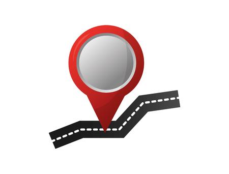 GPS navigation street pointer map image vector illustration