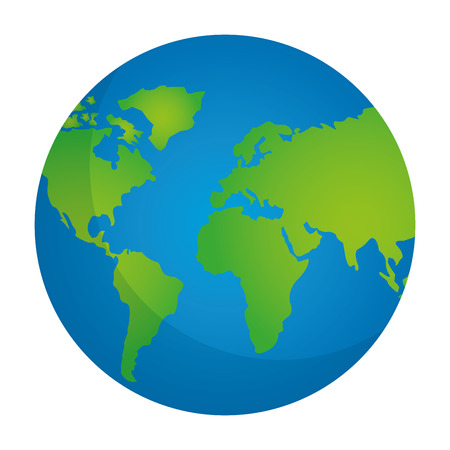 globe map world location geography vector illustration Banco de Imagens - 101170358