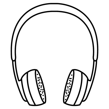 earphones music device icon vector illustration design
