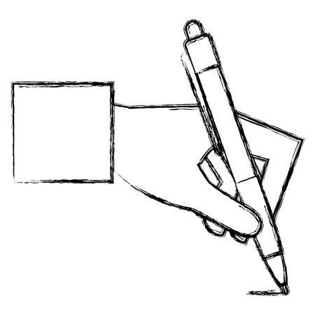 hand writing with pen vector illustration design Illustration