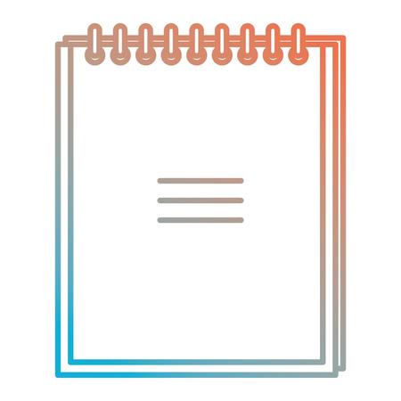 notebook school isolated icon vector illustration design Reklamní fotografie - 101170052
