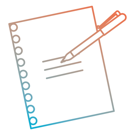 Paper document with pen vector illustration design.