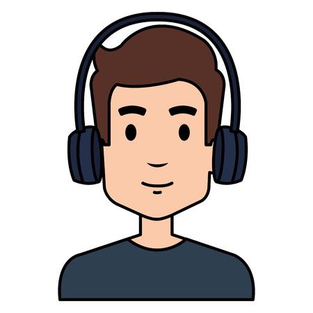 young man with earphones vector illustration design Foto de archivo - 101172984