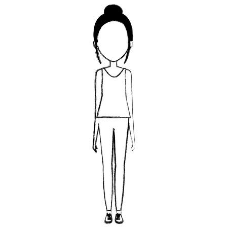 beautiful woman avatar character vector illustration design Standard-Bild - 101228722