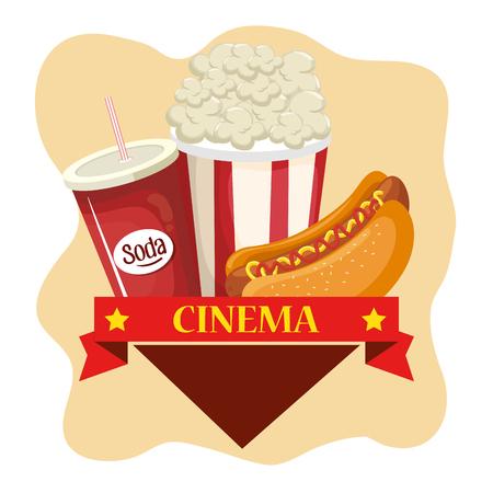delicious cinema food menu vector illustration design