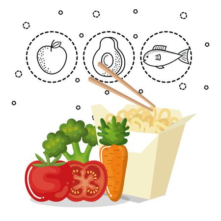 delicious food menu icons vector illustration design