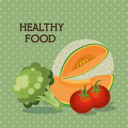 fruits and vegetables healthy food vector illustration design Stock Vector - 101313901