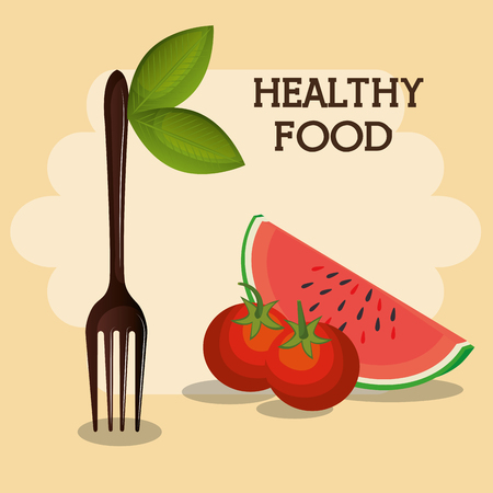 fresh fruits healthy food vector illustration design Standard-Bild - 101304525