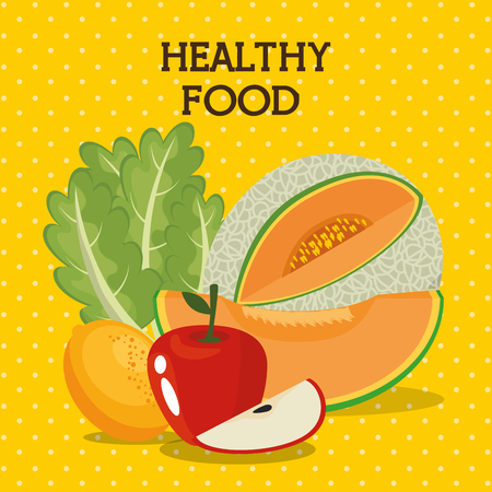 fruits and vegetables healthy food vector illustration design