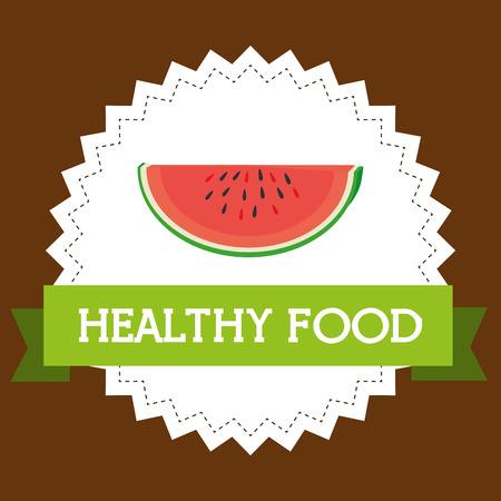 fresh watermelon slice healthy food vector illustration design