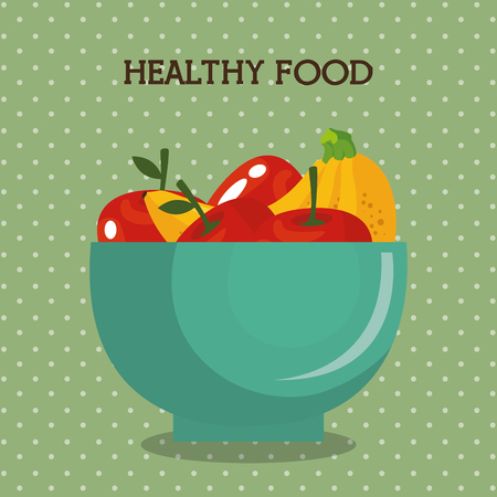 fresh fruits healthy food vector illustration design Stock Illustratie