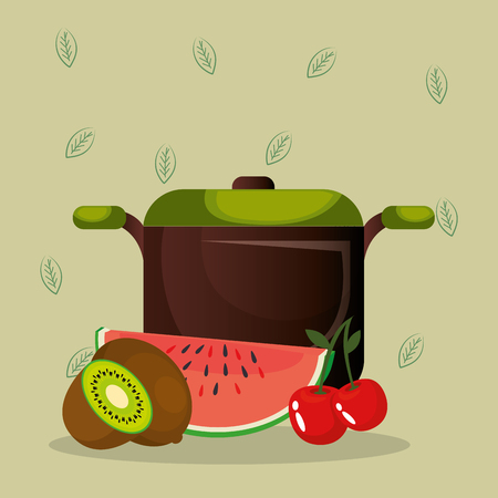 fresh fruits healthy food vector illustration design Banque d'images - 101314043