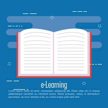 electronic learning with ebook vector illustration design