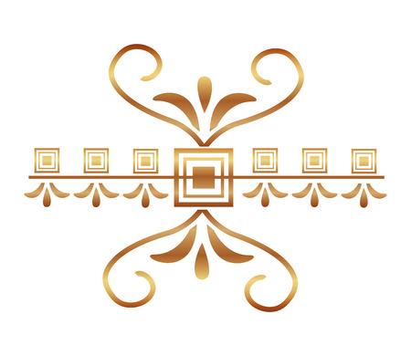 decorative swirl luxury golden flourishes vector illustration